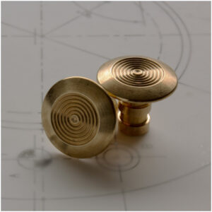 FF-BCIGTS Brass Circular Grooved Tactile Stud