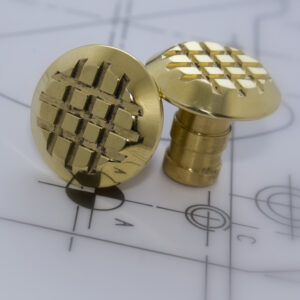FF-BCRGTS Brass Cross Grip Tactiles Stud